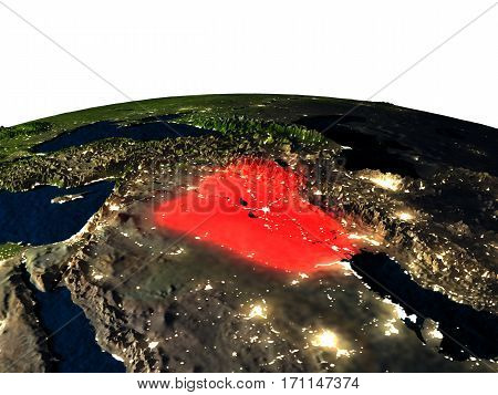 Iraq From Space At Night