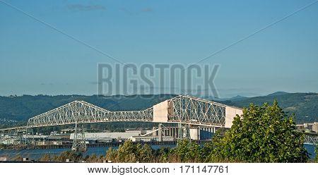 This is the bridge in Astoria Oregon the Megler bridge that spans the huge Columbia River.