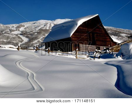 Historic barn in Ski Town USA, Colorado