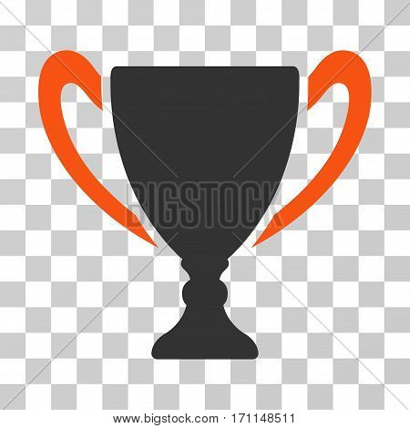 Cup icon. Vector illustration style is flat iconic bicolor symbol orange and gray colors transparent background. Designed for web and software interfaces.