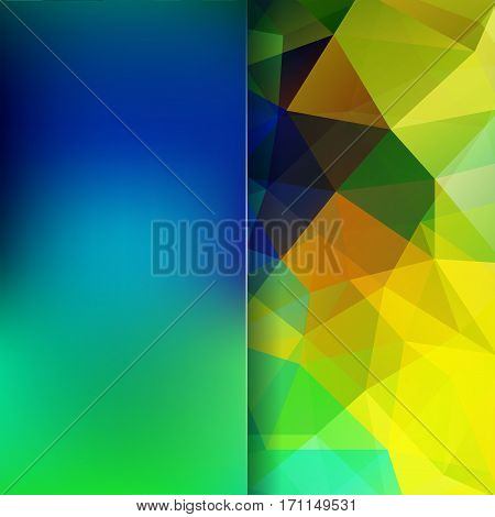 Abstract Geometric Style Colorful Background. Blur Background With Glass. Vector Illustration. Yello