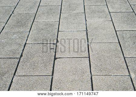 close up concrete block road texture background