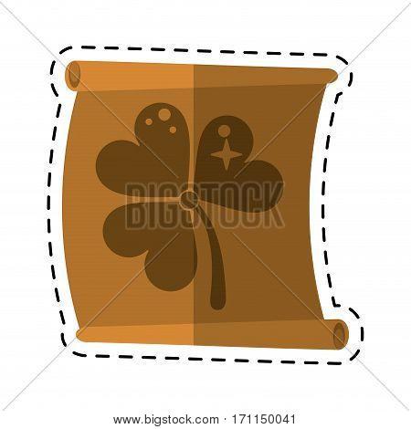 cartoon st patricks day clover papyrus vector illustration eps 10