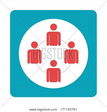 square teamwork for bussines in meeting vector illustration