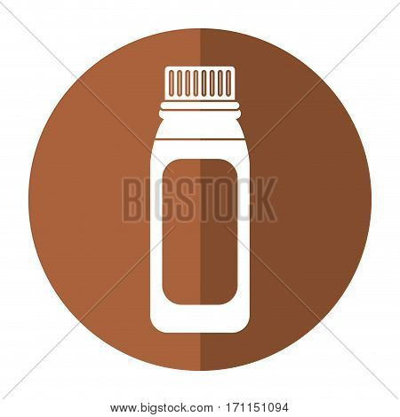 bottle medicine healhy care icon shadow vector illustration eps 10