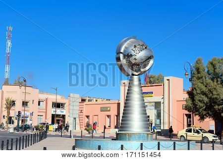 Monument Near Building Of Municipality In Ouarzazate