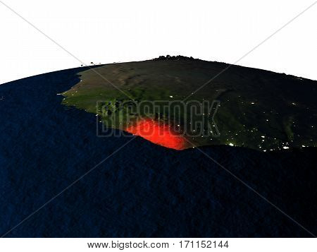 Liberia From Space At Night