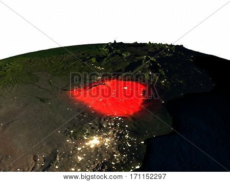 Zimbabwe From Space At Night