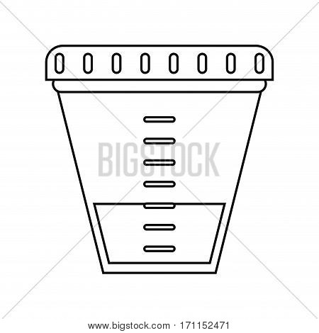container sample laboratory icon thin line vector illustration eps 10