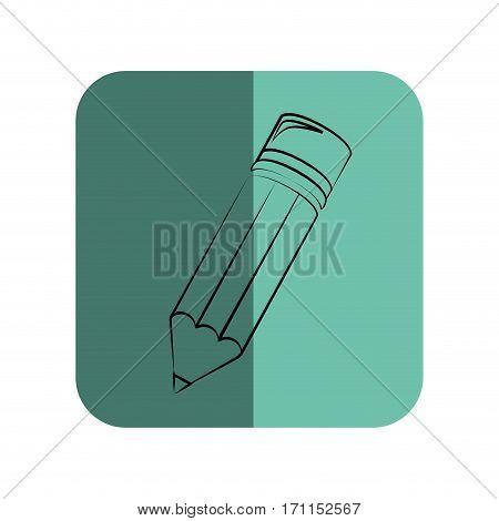 sketch of pencil in square frame vector illustration