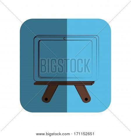 sketch of school slate in square frame vector illustration