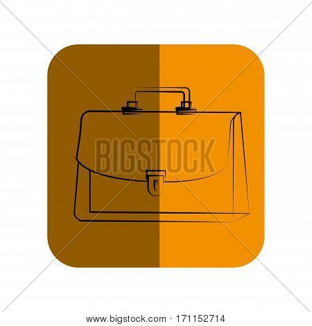 sketch of executive suitcase in square frame vector illustration