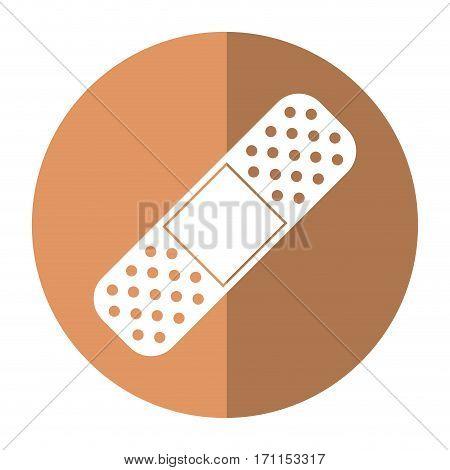 medical plaster bandage adhesive shadow vector illustration eps 10