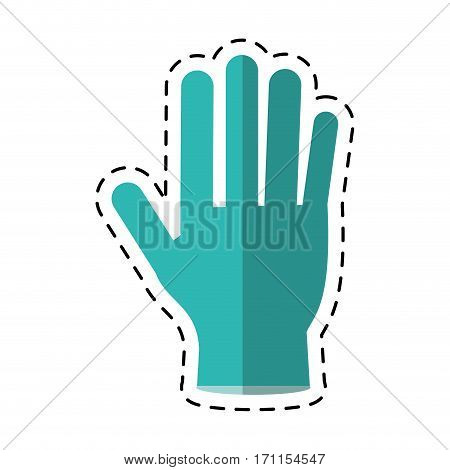 cartoon surgery glove clean medical vector illustration eps 10