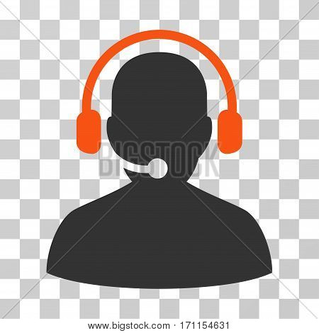 Telemarketing icon. Vector illustration style is flat iconic bicolor symbol orange and gray colors transparent background. Designed for web and software interfaces.