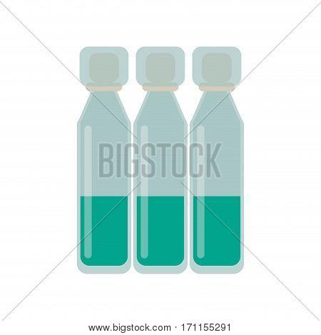 bottle vials medical healthy vector illustration eps 10