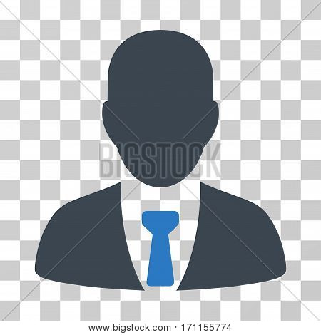 Businessman icon. Vector illustration style is flat iconic bicolor symbol smooth blue colors transparent background. Designed for web and software interfaces.
