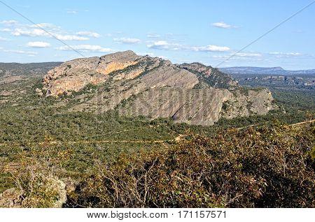 Mount Hollow in the Grampians Ranges of Victoria, Australia