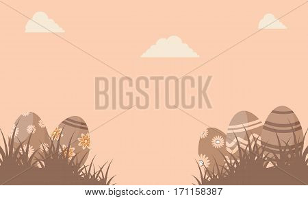 Silhouette of easter egg vector flat collection stock
