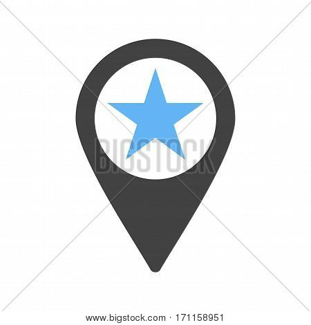 Location, star, town icon vector image. Can also be used for town. Suitable for mobile apps, web apps and print media.
