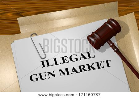 Illegal Gun Market - Legal Concept