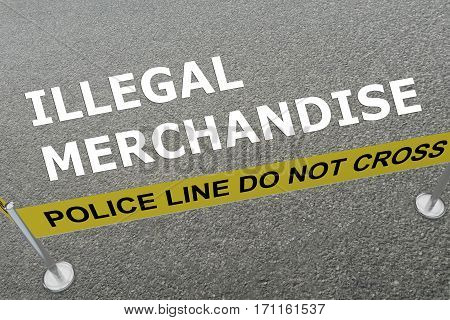 Illegal Merchandise Concept