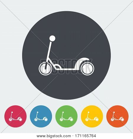 Scooter child icon. Flat vector related icon for web and mobile applications. It can be used as - logo, pictogram, icon, infographic element. Vector Illustration.