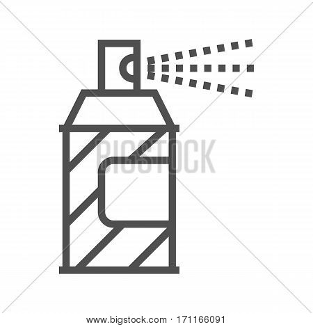 Spray Paint Thin Line Vector Icon Isolated on the White Background.