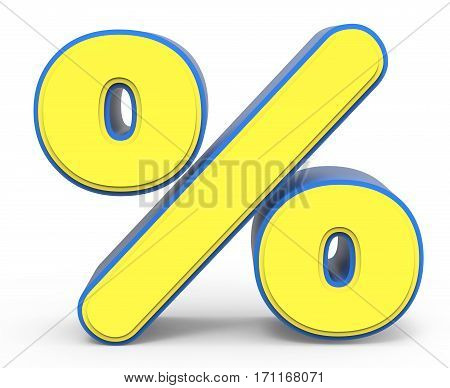 Cute Yellow Percentage Sign