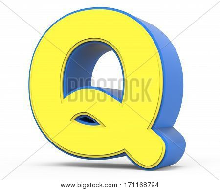 Cute Yellow Letter Q
