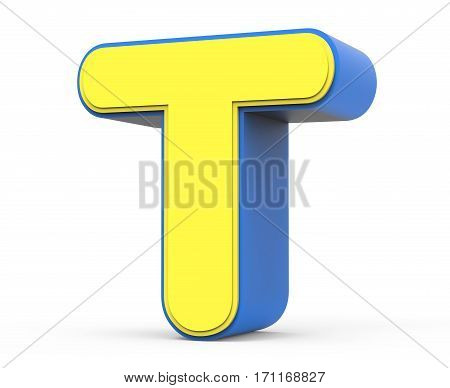 Cute Yellow Letter T