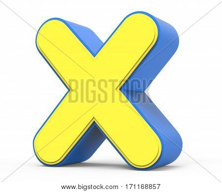 Cute Yellow Letter X