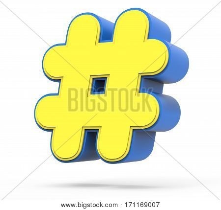 Cute Yellow Hashtag Sign