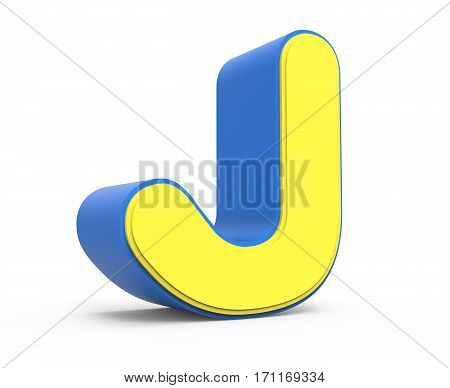 Cute Yellow Letter J