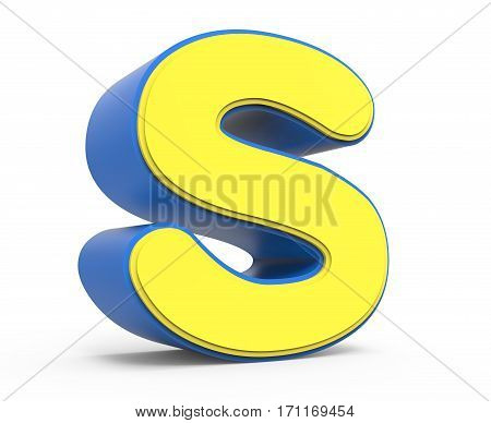 Cute Yellow Letter S