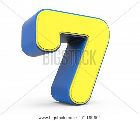 Cute Yellow Number 7