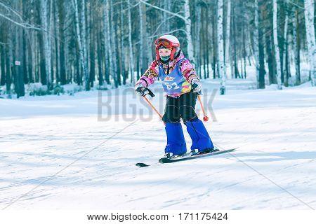Irkutsk, Russia - February 12, 2017: Slalom Competition Snowboar