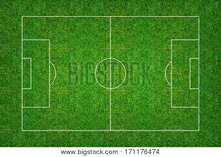 Football field or soccer field pattern and texture with clipping path. Abstract soccer field or football field background for create soccer tactic and soccer game strategy.