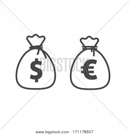 Money Bag Vector Icon Vector Photo Free Trial Bigstock