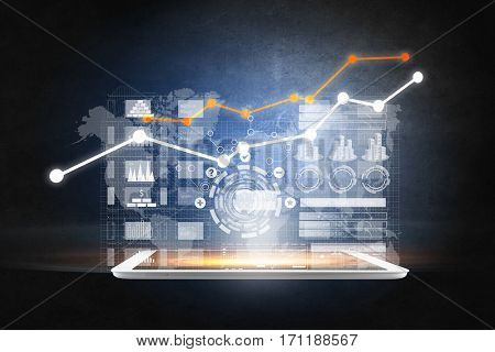 Interface financial application . Mixed media