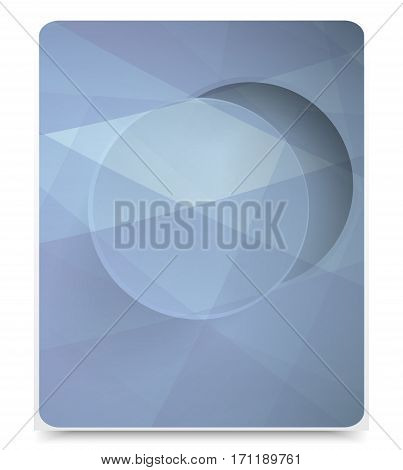 Abstract geometric background blue. brochure template and illustration