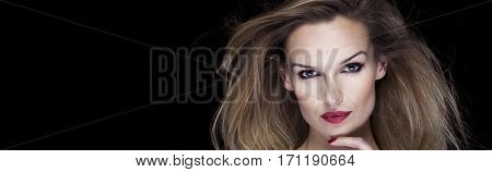 Blond Woman With Windblown Hair