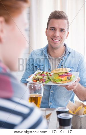 Smiling Guy With A Plate
