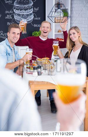 Beer Toast Of Friends