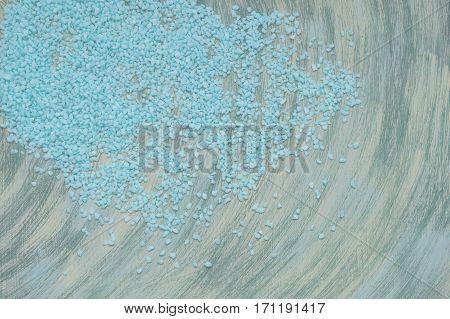Blue Gravel And Swirling Light Background Handmade.