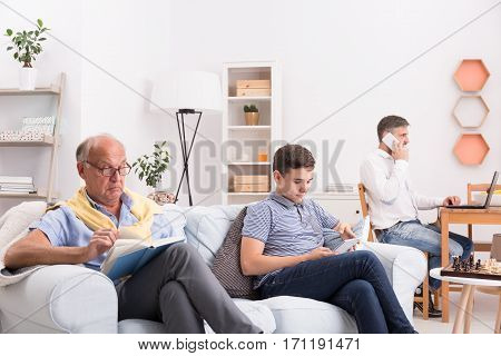 Men Spending Time At Home