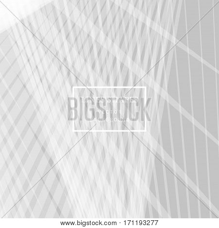 Modern Technology Striped Abstract Background Vector. Gray White