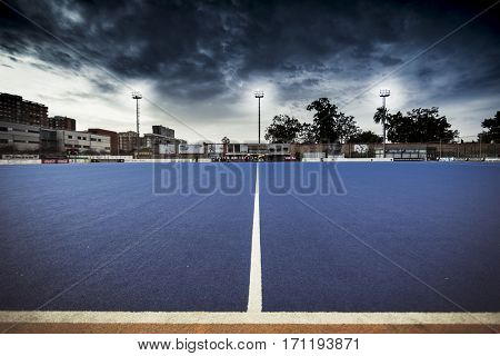 VALENCIA, SPAIN - FEBRUARY 12: Hockey World League Round 2 Final match between Spain and Poland at Betero Stadium on February 12, 2017 in Valencia, Spain