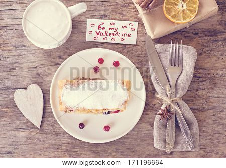 Strudel And Valentine's Day Decor