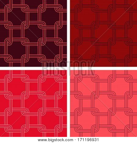 Vintage seamless colorful pattern and backgrounds in vector